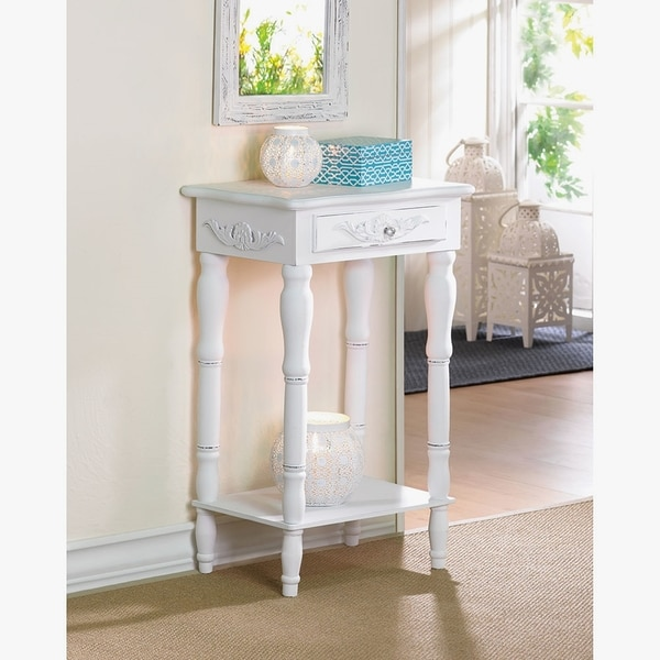 Shabby Chic White Wooden Side Table