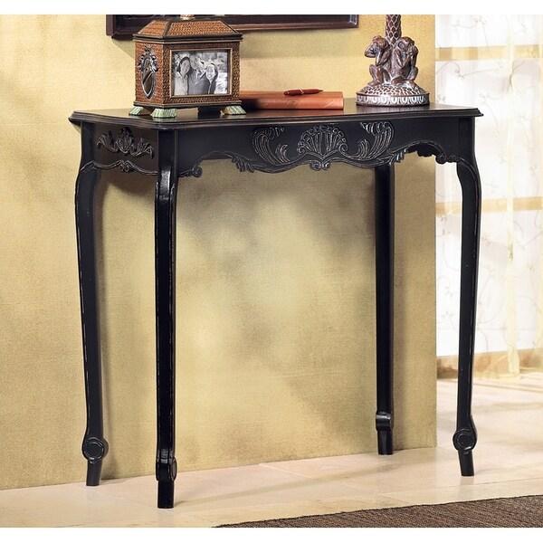 Elizabeth Antique Black Accent Table