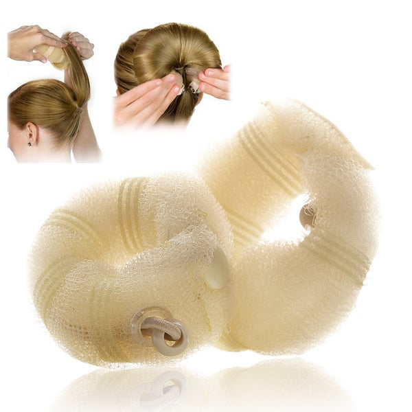 Zodaca 2-piece Set Hair Styling Donut Bun Maker