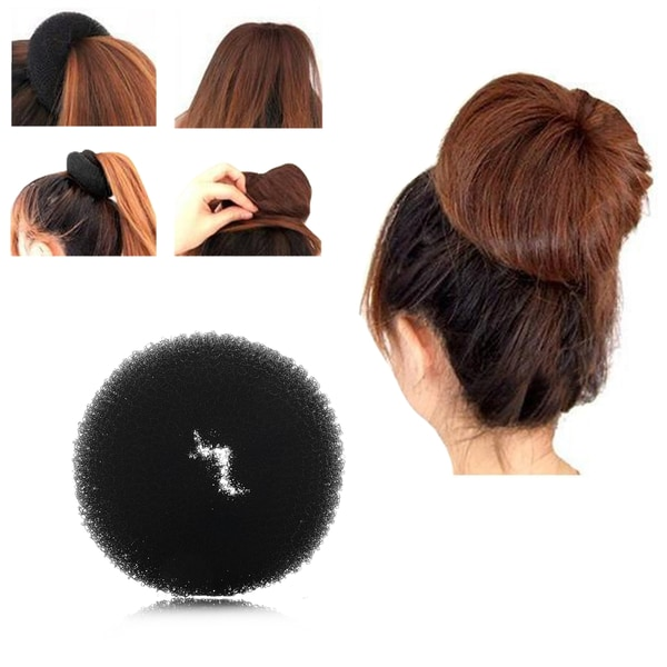 Zodaca Ring Shape Hair Styling Magic Sponge Donut Bun Maker