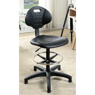 Furniture of America Giga Modern Black Plastic Armless Task Chair