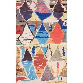 nuLOOM Hand-tufted Moroccan Berber Wool/ Faux Silk Multi Rug (8'6 x 11'6)