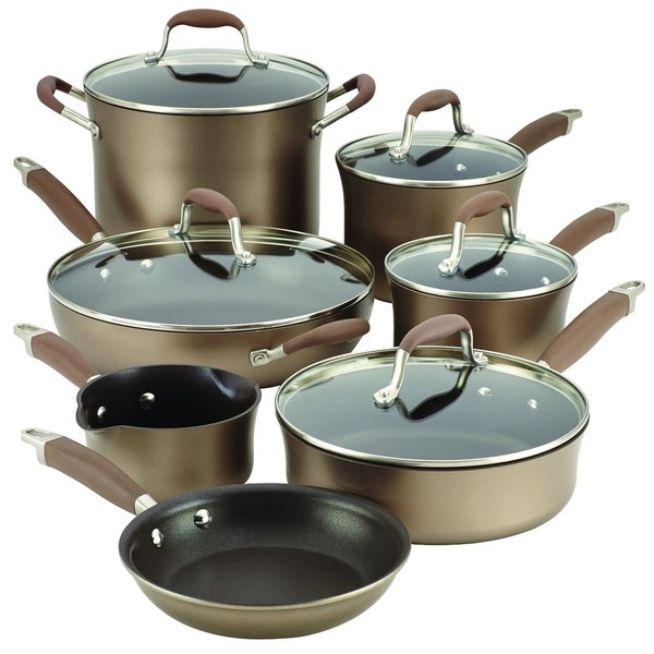 Anolon Advanced Bronze 12-piece Cookware Set