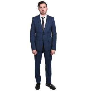 Versace Collection Men's Printed Two-piece Wool Suit