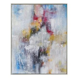 Delicate Downpour Framed Canvas