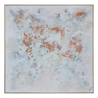 Copper Snow Framed Canvas