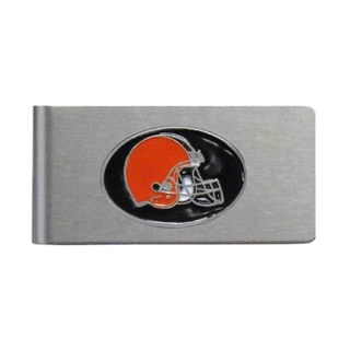 Cleveland Browns Sports Team Logo Brushed Metal Money Clip