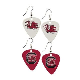 South Carolina Gamecocks NCAA Guitar Pick Dangle Earrings Charm Gift (Set of 2)