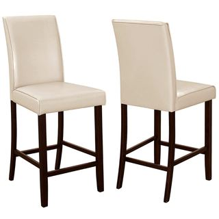 Medlin Contemporary White/ Cream Parson Style Counter Height Stools (Set of 2)