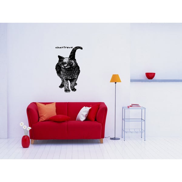 Chartreux Cat Breed Wall Art Sticker Decal