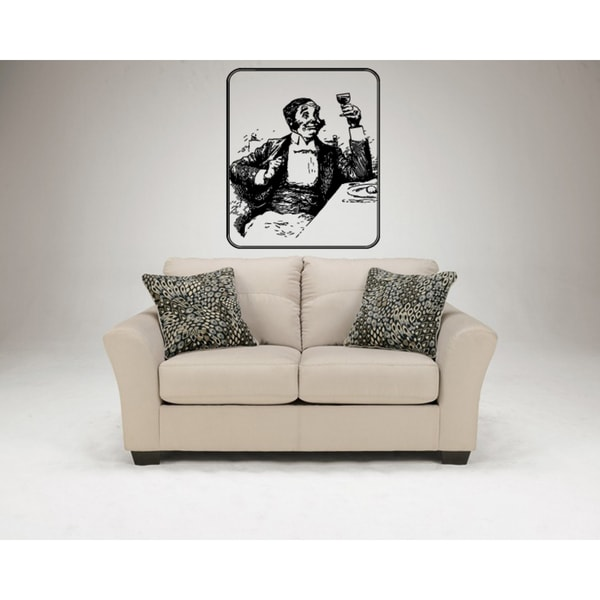 The gentleman with glasses Wall Art Sticker Decal