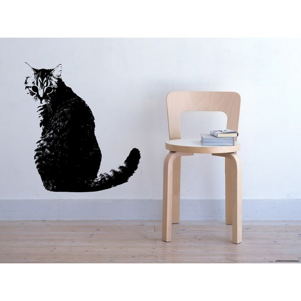 British Shorthair Cat Wall Art Sticker Decal