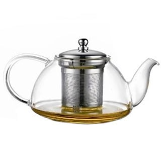 Glass 12 cup stovetop whistling tea kettle 11900642 for Alpine cuisine tea set