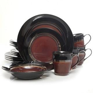 Calypso Court 16-piece Burgundy Dinnerware Set