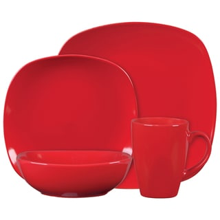 Gibson Canby Park 16-piece Dinnerware Set- Red