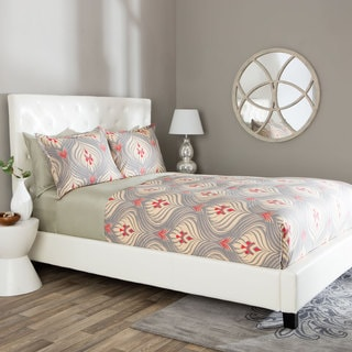 Andrew Charles Ogee Collection Damask Baroque Cotton Duvet Cover Set