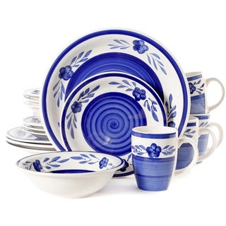 Gibson Sierra Madre 16-piece Blue Dinnerware Set