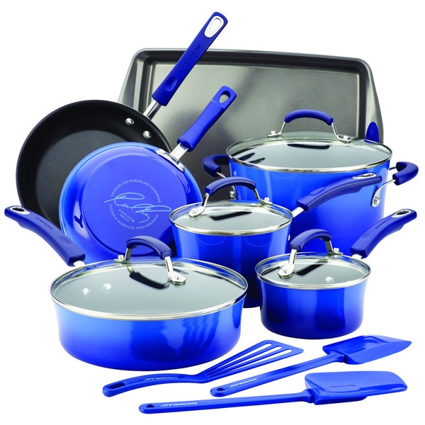Rachael Ray Hard Enamel Nonstick 14-Piece Cookware Set 17553271