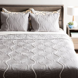 Andrew Charles Grey Pendant Pattern Quilt