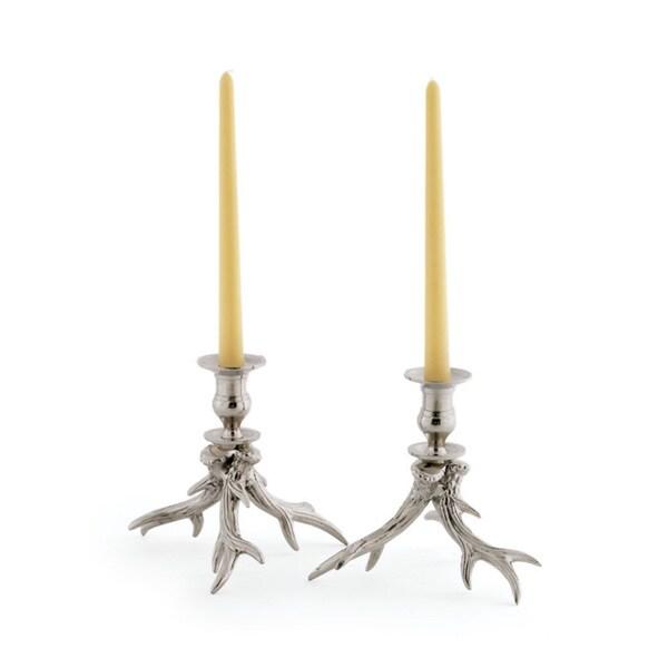 Vintage Hip Pair Of Western Candleholders