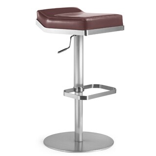 Dino Stainless Steel and Brown Fiber Stool