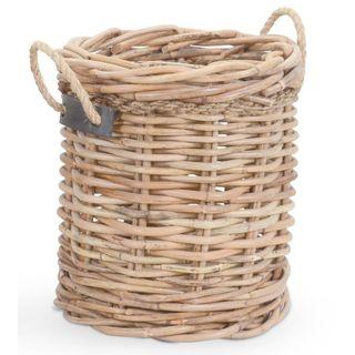 Crafted Home's Woodrow Medium Round Basket