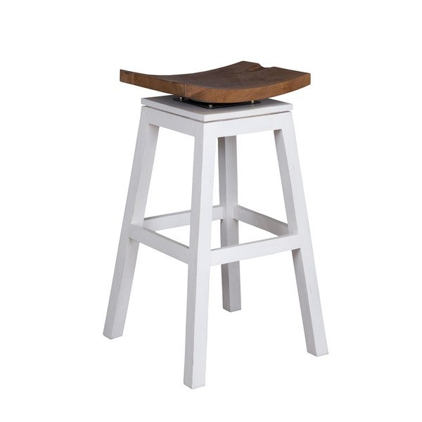 Crafted Home Aiden Barstool-Solid White