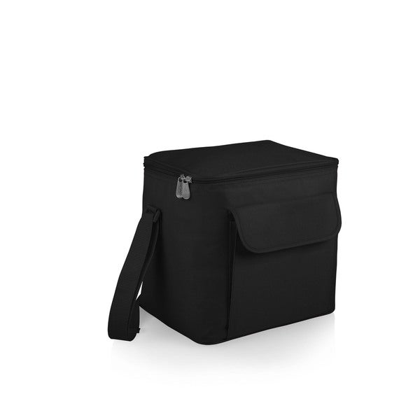 Picnic Time Aero Black Polyester Foldable Cooler with Strap