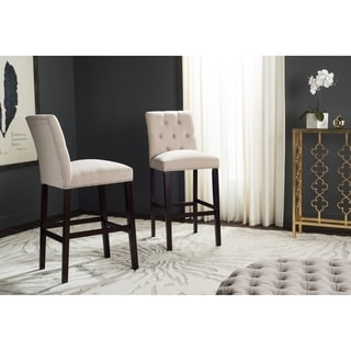Safavieh Nrah Beige Barstool (Set of 2)