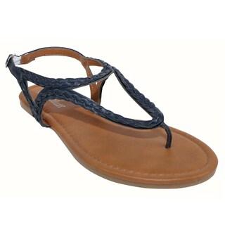 Olivia Miller 'Modena' Braided Buckle Sandals