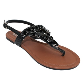Olivia Miller 'Messina' Rhinestone Sandals