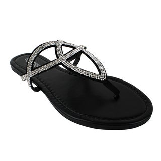 Olivia Miller 'Rimini' Criss Cross Sandals