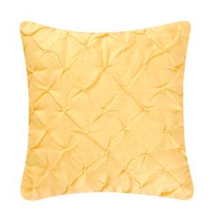 Yellow Diamond Tuck 17-inch Throw Pillows (Set of 2)