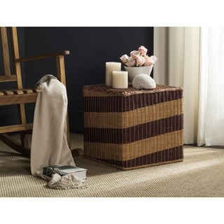 Safavieh Tygo Multi Wicker Cube Stool