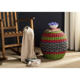 Safavieh Nikos Multi Wicker Barrel Stool