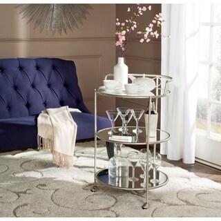 "Safavieh Dulcinea Silver/ Mirror Top Bar Cart - 22"" x 22"" x 35.4"""