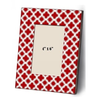 Shabby Chic Red and White Wood Picture Frame