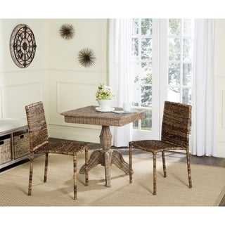 Safavieh Rural Woven Dining Anra Brown Side Chairs (Set of 2)