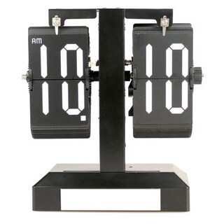 Modern Home Contemporary Retro Style Flip Desk Paris Clock with Light