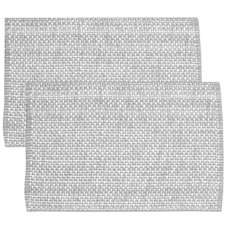 Grey Cotton Two-tone Placemats (Set of 2, 4 or 6)