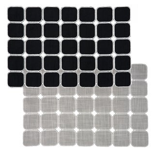 Black/ Silver Reversible Geometric Placemats (Set of 2, 4 or 6)