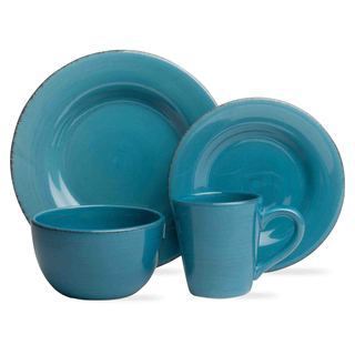 TAG Sonoma Dinnerware Collection Turquoise 16 pc