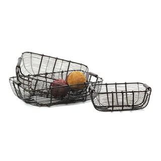 Hip Vintage Tabletop Wire Baskets (Set of 3)