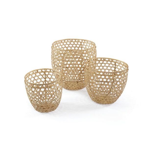Vintage Hip Set of Three Partridge Baskets