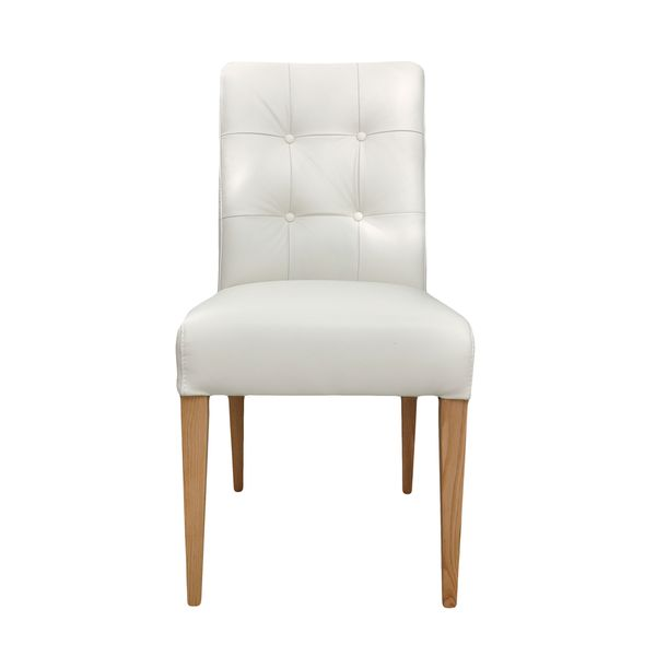Aurelle Home Angelina Side Chair White (Set of 2)