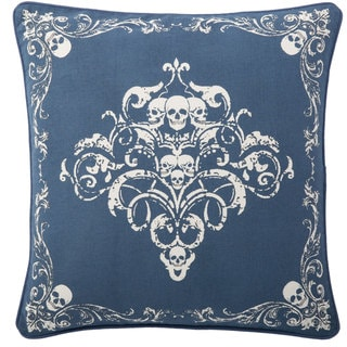 Andrew Charles Paisley Park 20-inch Ornamental Skull Print Throw Pillow