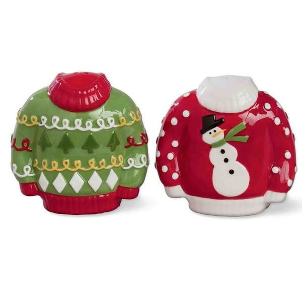 Tag Sweater Party Salt & Pepper Shakers
