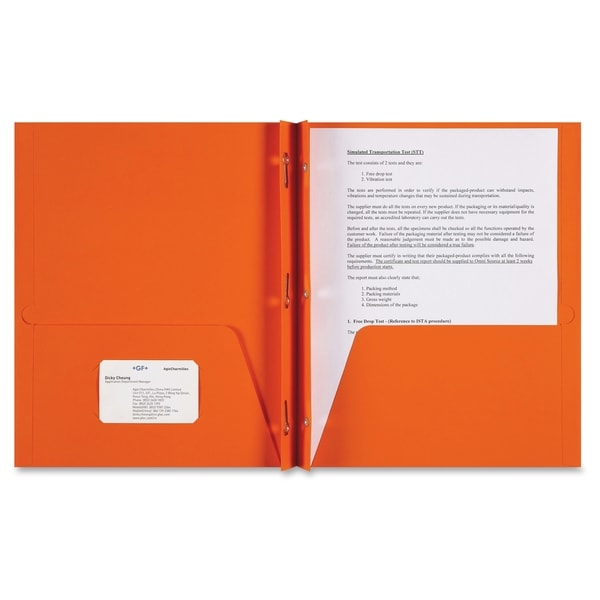 Sparco Two-pocket 3-Prong Leatherette Portfolio