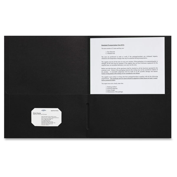 Sparco 2-pocket Leatherette Portfolio