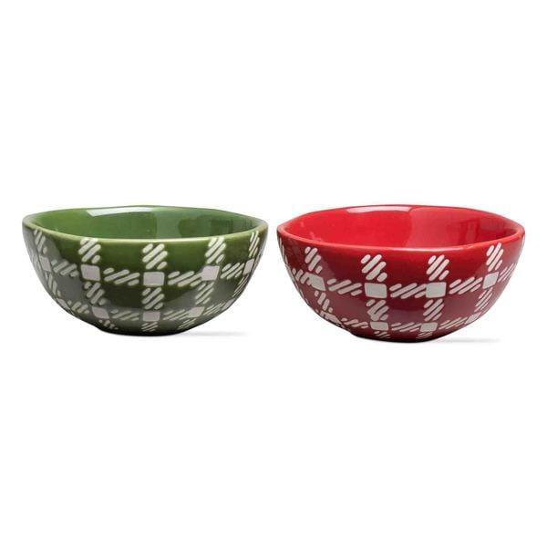 Tag Woodland Plaid Bowls - Set of 2